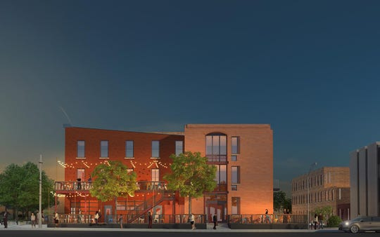 An artist's rendering of the new restaurant planned for the former Zona's.