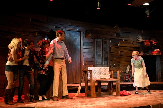"""The Harbor Playhouse presents """"Evil Dead the Musical, as seen rehearsing Wednesday, Oct. 16, 2019. The musical will run from October 18 through October 31."""