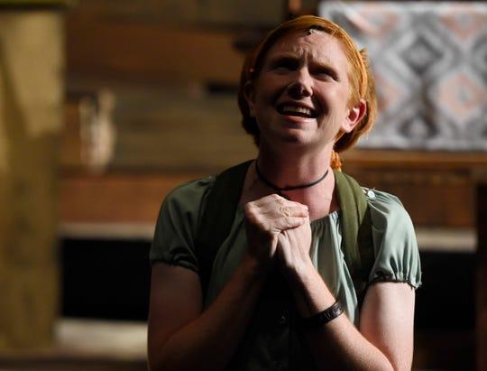 "Ashley Warrington sings during ""Evil Dead the Musical"", Wednesday, Oct. 16, 2019, at Harbor Playhouse. Warrington plays Cheryl."
