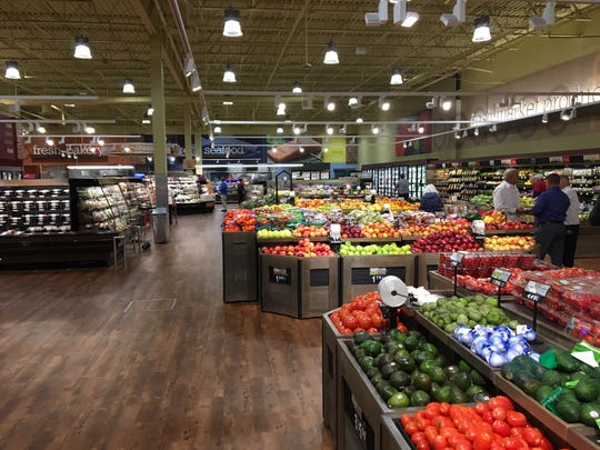 ShopRite of Mount Laurel in the East Gate Square shopping center recently underwent a major renovation. The expanded produce area is shown with blown out ceilings, new flooring, LED lighting and new lower-profile furniture for the produce so it can be viewed better.