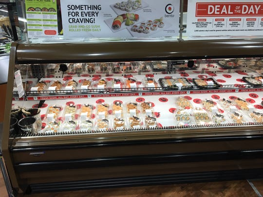 ShopRite of Mount Laurel now offers freshly-made sushi as part of its recent renovation and expansion. There is an expanded produce section, Asian cuisine area, hot foods such as fried chicken, a salad bar, a cafe with a seating area and much more.
