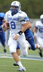 September 24, 2011: Highlands quarterback Patrick Towles (8) runs for a touchdown against Covington Catholic in the fourth quarter.