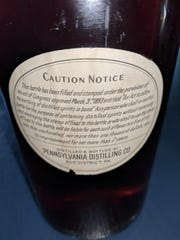 "The bottle was ""bottled in bond"" under the Congress-approved law entitled ""An Act To allow the bottling of distilled spirits in bond."""