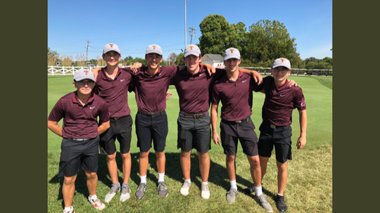 Turpin High School's varsity golf team