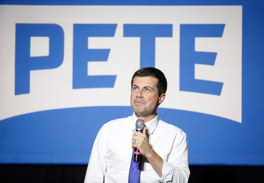 Democratic presidential candidate hopeful Pete Buttigieg spoke to about 1,000 supporters at Iowa State University during a town hall style meeting on Wednesday in Ames.