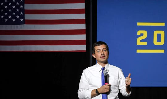Democratic presidential candidate hopeful Pete Buttigieg spoke to about 1,000 supporters at Iowa State University during a town hall style meeting on Wednesday, Oct. 16, 2019, in Ames.