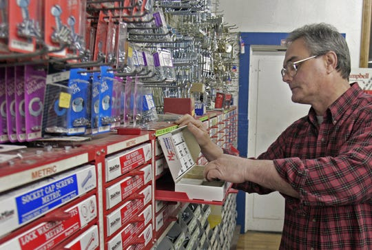 Bill Wheeler is seen at his store, Hiland Park Hardware.