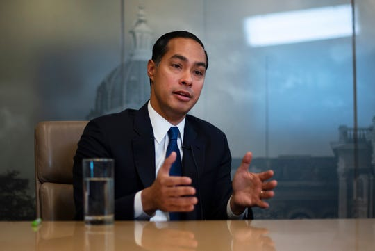 Julián Castro, former secretary of Housing and Urban Development and 2020 presidential candidate, meets with the Register's editorial board on Oct. 17.