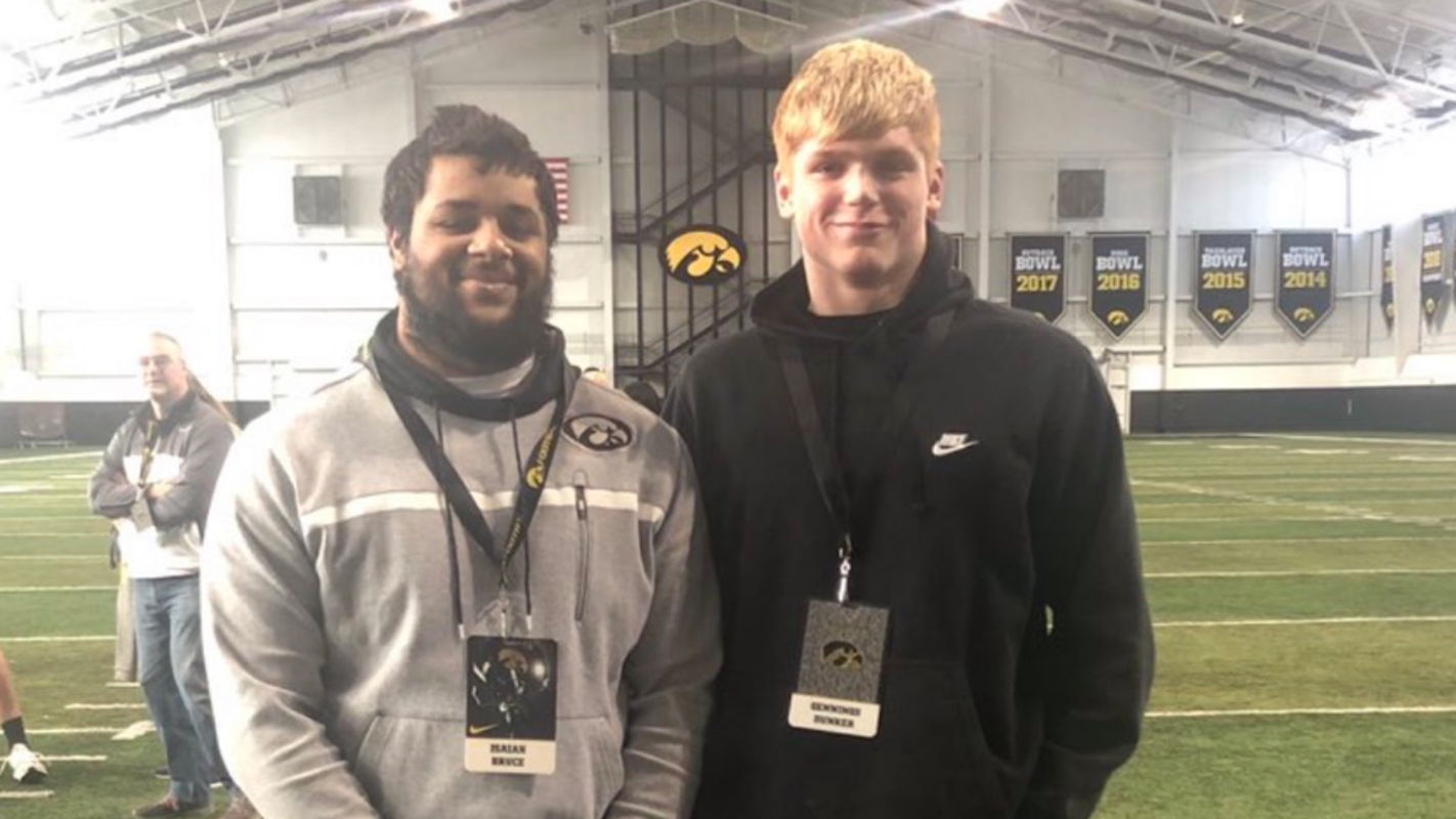 How Iowa coaches discovered two recruits at a tiny football power in rural Illinois