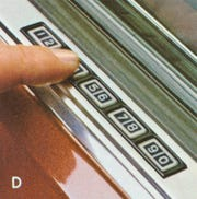 Ford's keyless entry feature debuted on some 1980 models including the Lincoln Continental Mark VI.