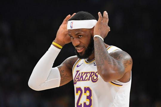The Lakers' LeBron James