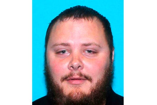 This undated file photo provided by the Texas Department of Public Safety shows Devin Patrick Kelley.