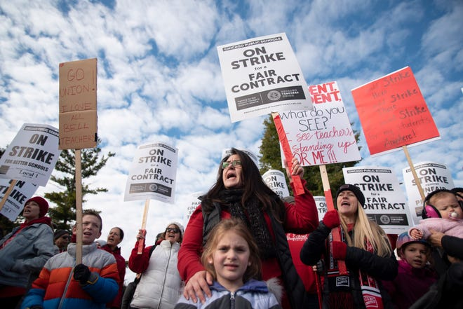 Chicago teachers went on strike Oct. 17 after failing to reach a contract deal with the nation's third-largest school district in a dispute that canceled classes for over 300,000 students.