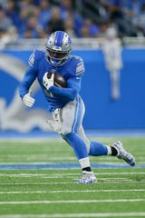 Lions running back Ty Johnson has 13 carries this season for 54 yards.