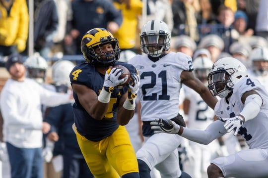 Nico Collins and Michigan are more than a touchdown underdog Saturday at Penn State.