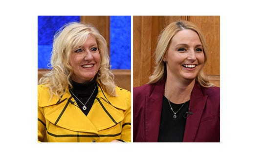 Democratic incumbent Councilor Missy Mosby, left, and republican opponent Natalie Rascher, right, are competing  for City Council's Second Ward seat.