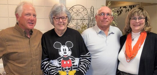 """Left to right are volunteers Mike Bohling, Becky Traxler and Greg Sanderson, with Friends-ONWR Board Secretary and Perrysburg Township Fiscal Officer Shirley """"Ginger"""" Haar."""