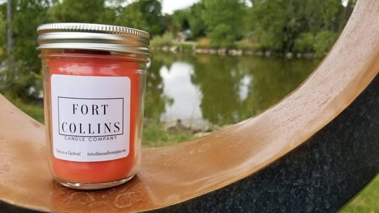 A pumpkin cider candle available through the Fort Collins Candle Company