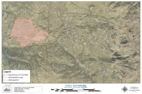 A map shows the Elk Fire burn area next to Glacier View Meadows.