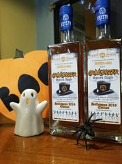 Grave Digger whiskey is a collaborative spiced apple whiskey created by Fort Collins rock band 13 Nails and Feisty Spirits.
