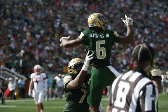 North Fort Myers graduate Austin Watkins is putting together a great season at UAB. Watkins leads the Blazers with 26 receptions for 534 yards and five touchdowns.