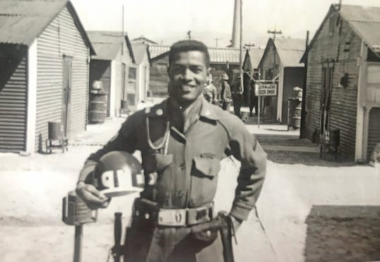 George Mayo, May 13 1934 - Oct. 11, 2019, will be laid to rest Saturday in Fort Myers, mourned by family, church and generations of Lee County students who he mentored during the turbulent years of transition from school segregation to integration. Shown, Mayo in his military policeman uniform during the latter part of the Korean conflict from 1953 to 1956.