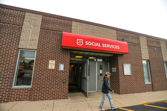 Rana Paul leaves the Greater Green Bay Salvation Army on Thursday in Green Bay.