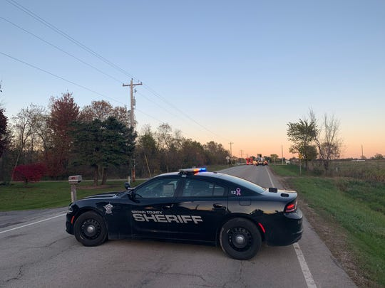 Authorities closed Dutchman Road in the town of Ledgview after a small airplane crashed near Martins Aerodrome, 2850 Dutchman Road.