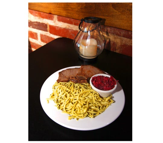German spaetzle is a house specialty.