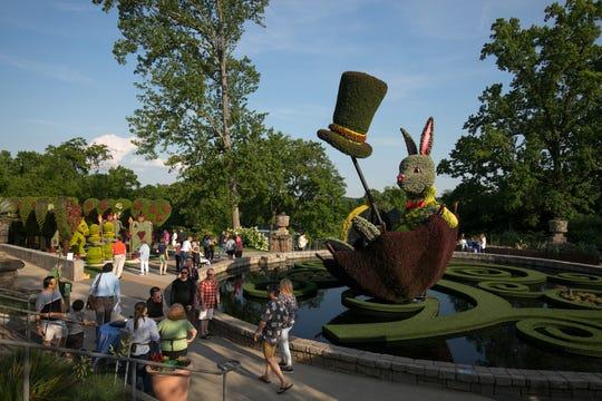 May 7, 2019 - Atlanta, Ga: Imaginary World Returns Alice's Wonderland at the Atlanta Botanical Garden Tuesday, May 7, 2019, in Atlanta.  (Photo by JASON GETZ/ Atlanta Botanical Garden)