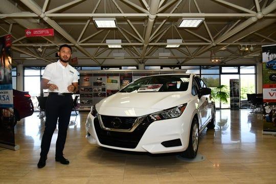 The 2020 Nissan Versa.