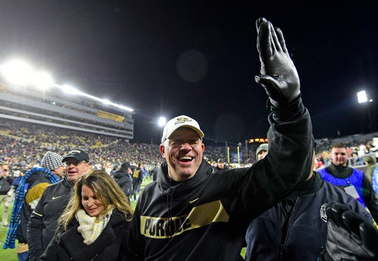 Third-year coach Jeff Brohm of Purdue often has something up his sleeve for big opponents, like he did last year in a home blowout of Ohio State.