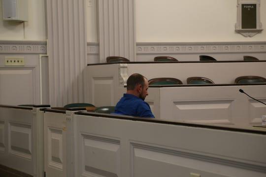 Matthew Pinney at his plea proceeding on Oct. 17, 2019.