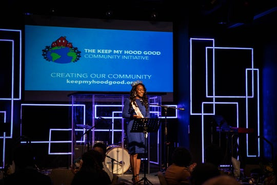 Alexis Cole, Miss Black Tennessee USA, was the keynote speaker at the Keep My Hood Good Initiative on Thursday, Oct. 10, 2019.