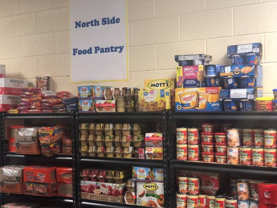 The now open North Side High School food pantry was started as an Eagle Scout project. RIFA will restock the pantry once it's empty, and the school plans to hold food drives to keep it stocked.