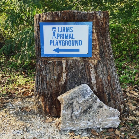 The new Primal Playground opened on Oct. 12 at Ijams Nature Center. It is a first of its kind green exercise space and just a short walk from the main Mead's Quarry parking lot, along the Pink Marble Trail.