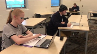Eastern High School students and staff talk about the advantages of new Flex Academy that allows students to attend school starting at 3 p.m. in Lansing.