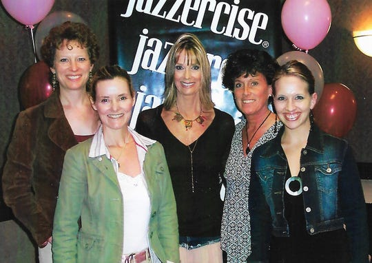 Jazzercise convention, pictured from left: Debbie Klingeisen, owner; Jessie Schultz, instructor; Judi Sheppard-Missett, Jazzercise founder; and Cindy Felde and Rachel Seidl, instructors.