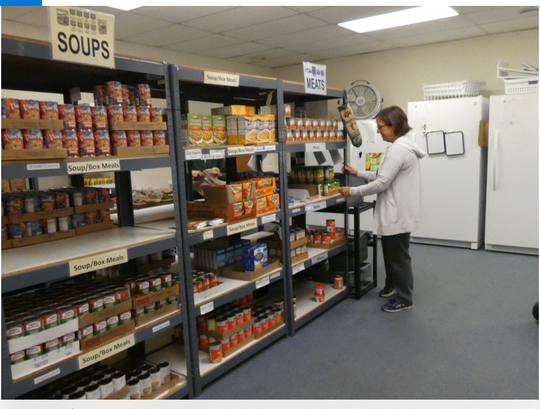 Sue Dyson, who runs the Catholic Charities HOPE Food Pantry at 523 Park Avenue East, said the pantry is low this month and non-perishable items including canned ravioli and baked beans are needed.