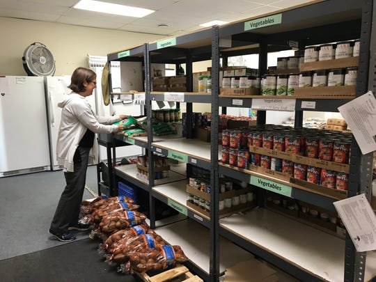 Catholic Charities HOPE Food Pantry, 523 Park Avenue East, is low this month, said Sue Dyson, who oversees the pantry.