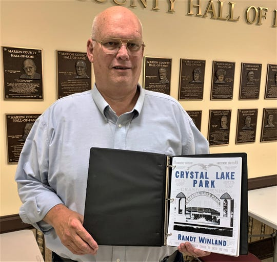 """Marion County historian Randy Winland has self-published a book about the history of Crystal Lake amusement park. """"Crystal Lake Park"""" will be released to the public during a presentation on Thursday, Oct. 24 at Tri-Rivers Career Center. The presentation begins at 7 p.m."""