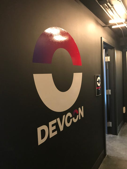 DEVCON's logo at its new headquarters in UMRF Research Park