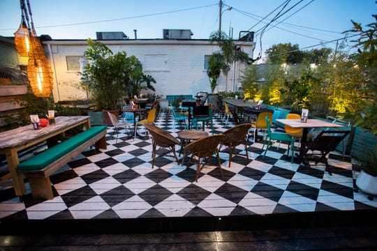 Back Dō / Mi Yard is a backyard oasis for dinner, drinks and movies. It will open Oct. 23 behind The Beauty Shop.