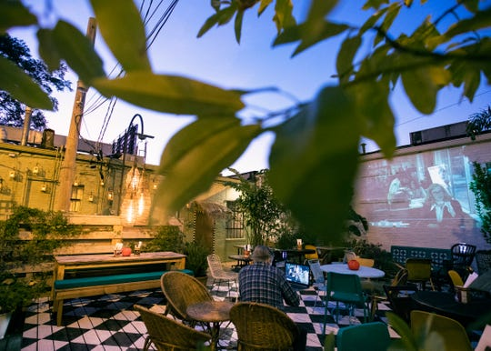 Movies will play every night at Karen Carrier's new restaurant, Back Dō / Mi Yard in Cooper-Young.