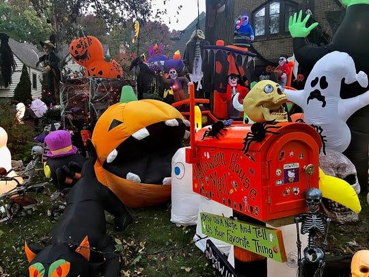 Paul and Jennifer Gorecki's home, located at 4870 N Oakland Ave., Whitefish Bay, is decked out in Halloween decor.