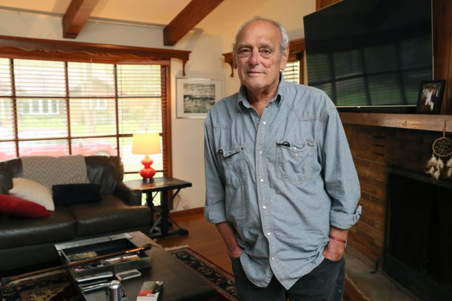 Tom Drilias in his Oconomowoc home.  He is an Air Force veteran who served in Vietnam from 1966-67 and was exposed to the toxic herbicide Agent Orange.  He was finally successful in getting disability benefits.