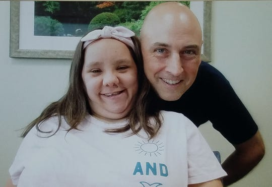 Tiffany Sheppard of Clifton with family friend Joe Porretta of Rockaway Township before surgery on Oct. 2, 2019, at Saint Barnabas Medical Center in Livingston. She received a new kidney through a national kidney-exchange program when Porretta donated a kidney into the program. His kidney went to a more-compatible patient in California.
