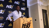 ASU head coach Donald Hill-Eley talks about how his team has rebounded from loss at Alcorn with a win over Jackson State last week. He says the team's morale is high.