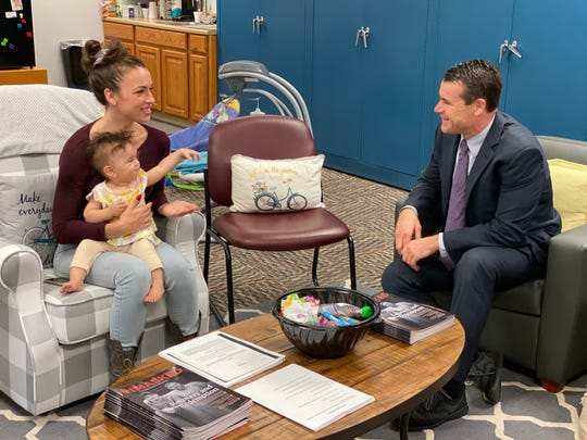 Senator Todd Young toured Meridian Health Service's Maternal Treatment Program and the Suzanne Gresham Center on Oct.10, 2019.