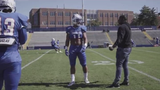 Tennessee State linebacker Christion Abercrombie nearly died after suffering a severe head injury last season.